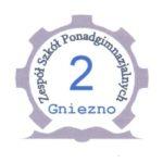 Logo Zespołu Szkół Ponadgimnazjalnych nr 2 w Gnieźnie partnera Nocy Zawodowców 2019 Edycja 2.0 w Gnieźnie