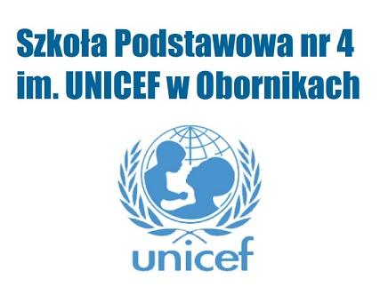Logo Szkoły Podstawowej nr 4 im. UNICEF w Obornikach