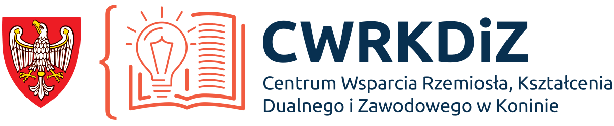 Logo Centrum Wsparcia Rzemiosła, Kształcenia Dualnego i Zawodowego w Koninie
