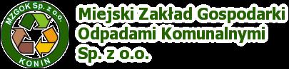 Logo Miejski Zakład Gospodarki Odpadami Komunalnymi Sp. z o.o.