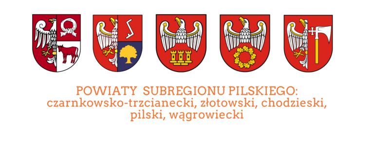 Logo Powiatów subregionu pilskiego czarnkowsko-trzcianeckiego, złotowskiego, chodzieskiego, pilskiego i wągrowieckiego