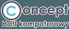 Logo firmy Concept haft komputerowy