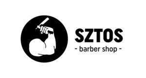 Logo firmy SZTOS barber shop