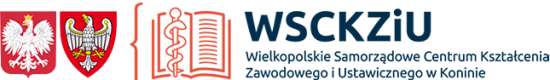Logo Wielkopolskiego Samorządowego Centrum Kształcenia Zawodowego i Ustawicznego w Koninie